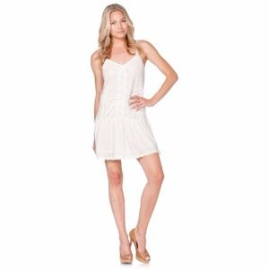 Me Miss Embroidered White Lace Dress Small